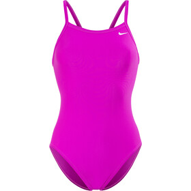 Nike Swim Solid Racerback One Piece Dames, fuchsia blast